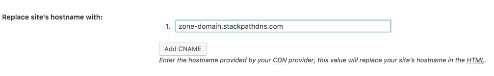 w3tc cdn hostname options