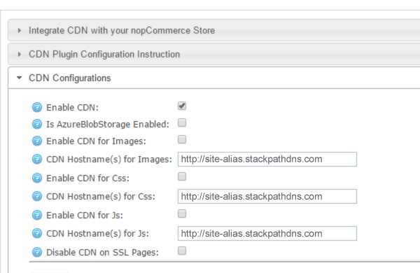 Nopcommerce CDN configuration