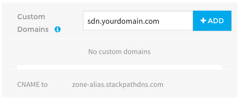 StackPath custom domain settings