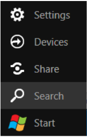 Windows 8 search tab