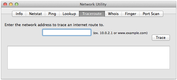 Traceroute on Mac OSX